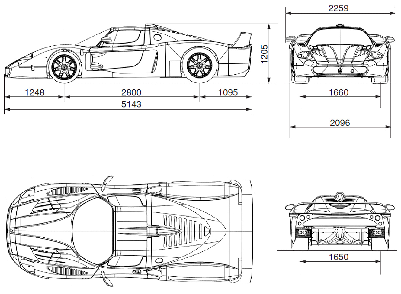 Maserati MC12 blueprint