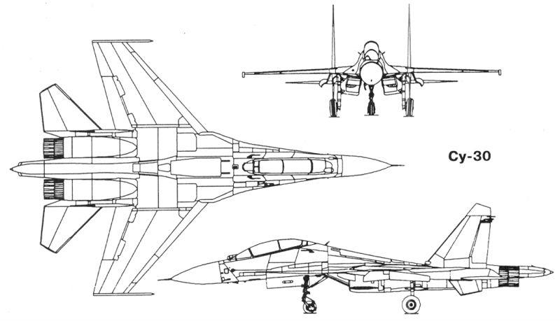 Su-30 blueprints