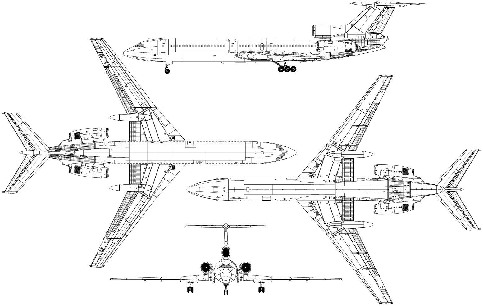 Tu-154 blueprint
