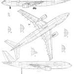 Airbus A300 blueprint