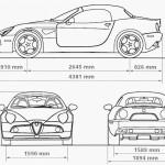 Alfa Romeo 8C Spider blueprint