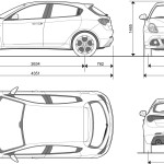 Alfa Romeo Giulietta blueprint