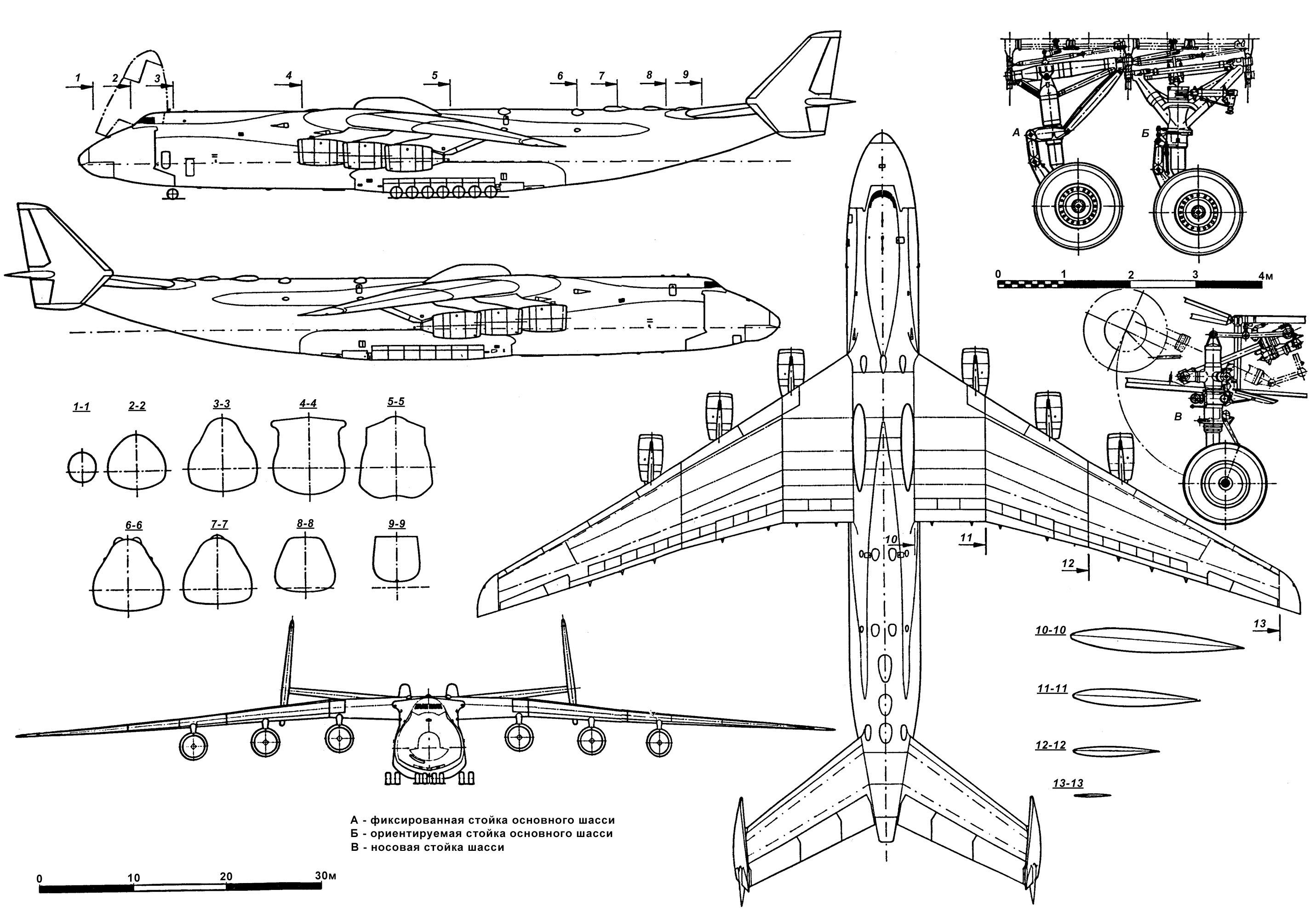 An-225 Mriya blueprint