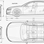 Audi A8 blueprint