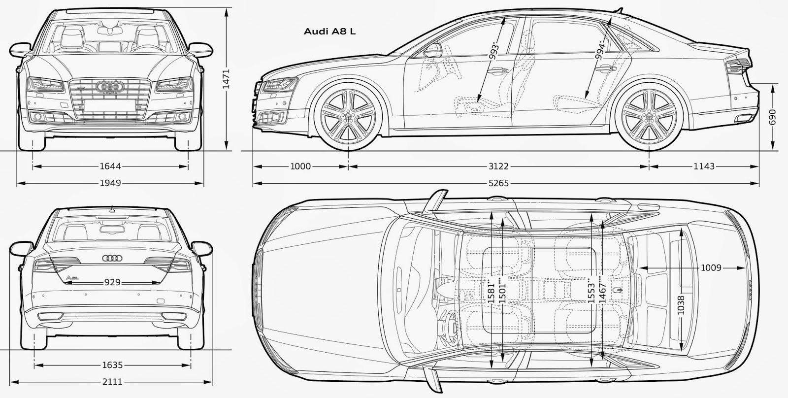 Audi a8 l blueprint download free blueprint for 3d modeling for Free 3d blueprints