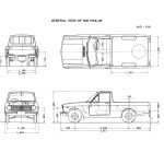 Datsun 1000 Pick Up blueprint