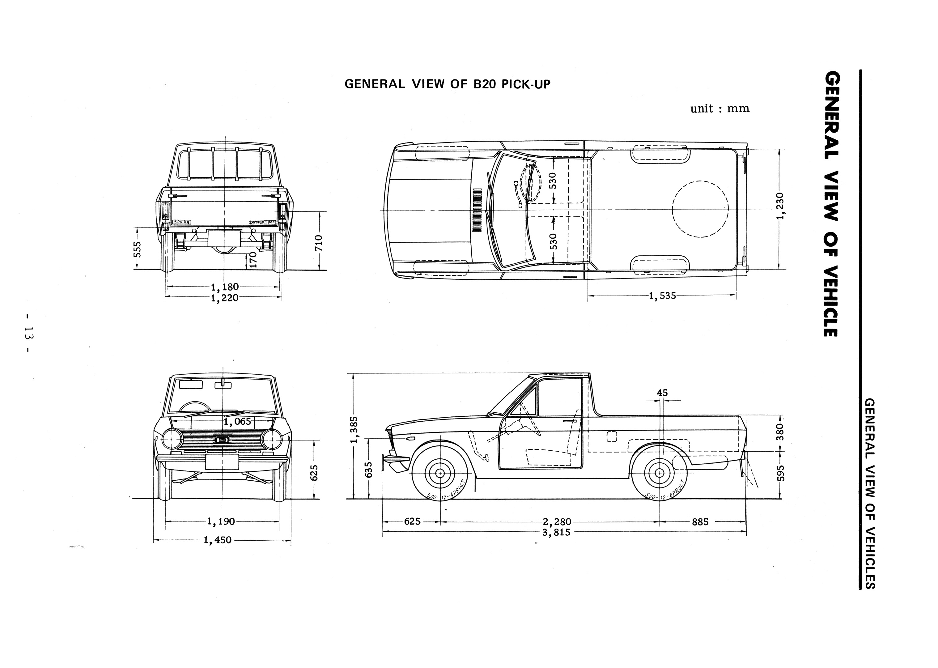 Datsun Blueprints Pickup B on 1966 ford pick up wiring diagram