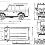 Fiat Campagnola blueprint