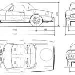 Fiat Dino 2400 blueprint
