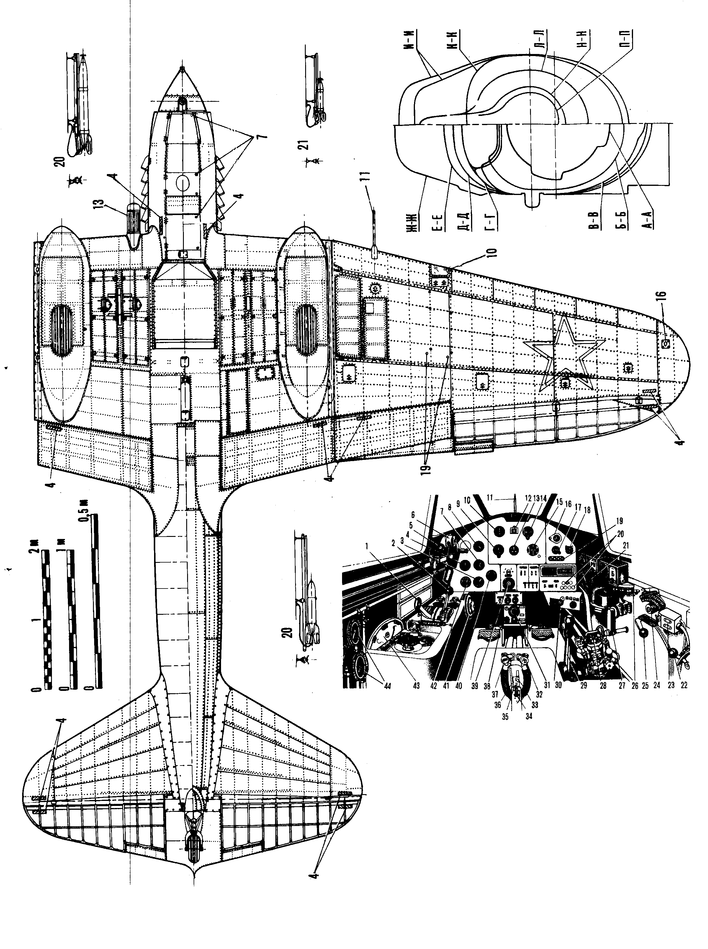 Ilyushin Il-2 blueprint