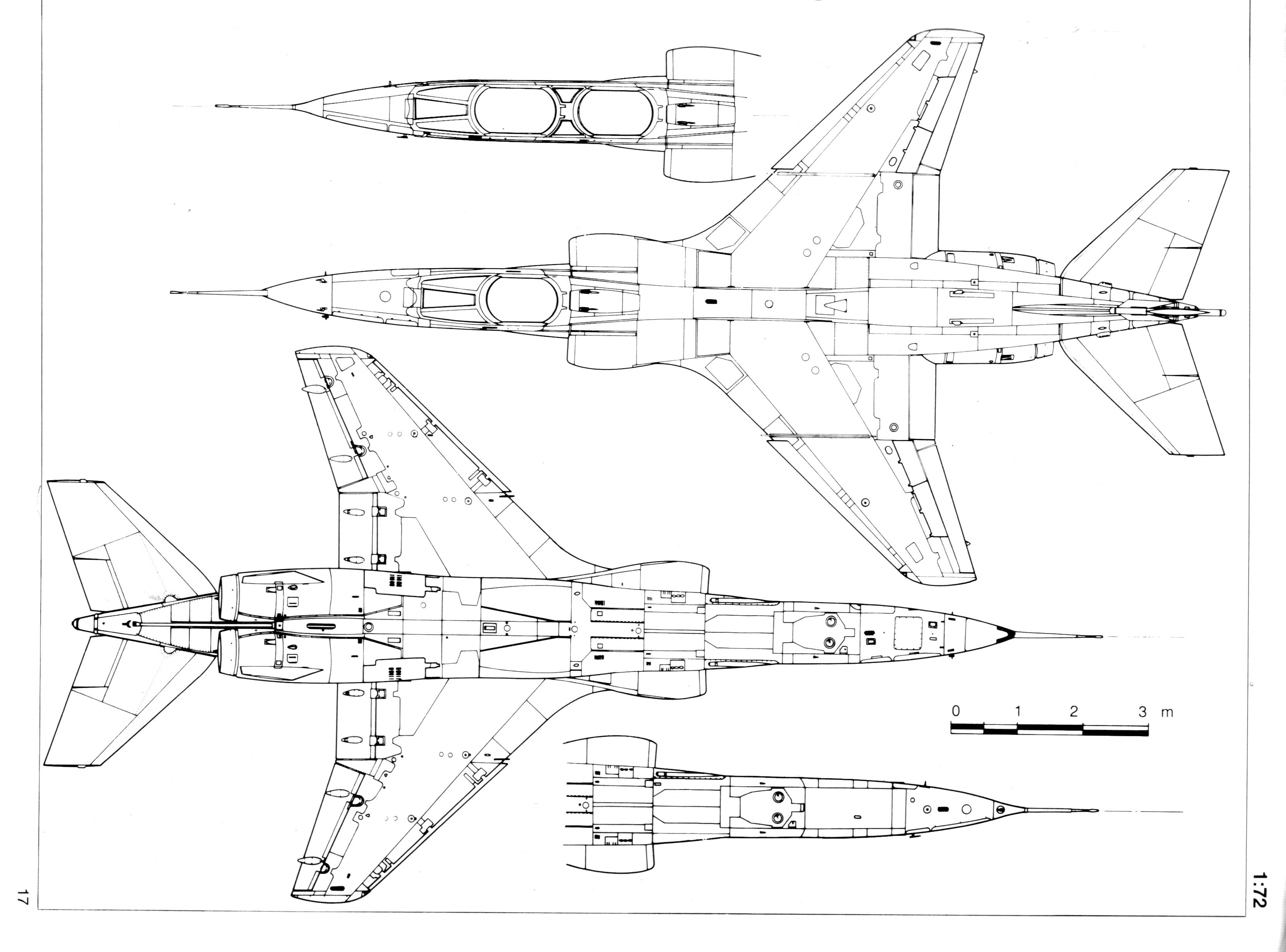 SEPECAT Jaguar blueprint