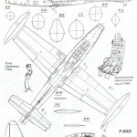 F-84 Thunderjet blueprint