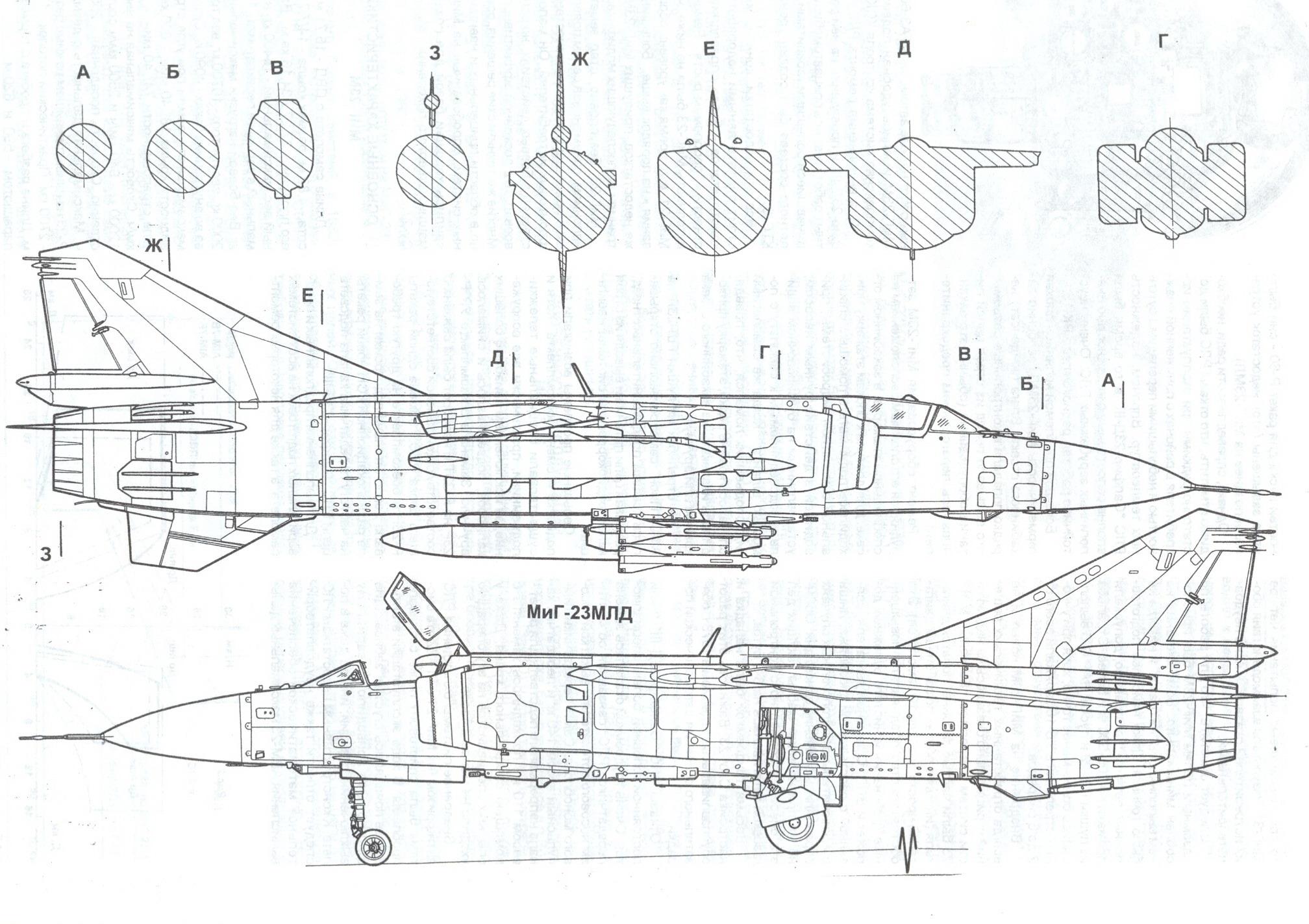MiG-23 blueprint