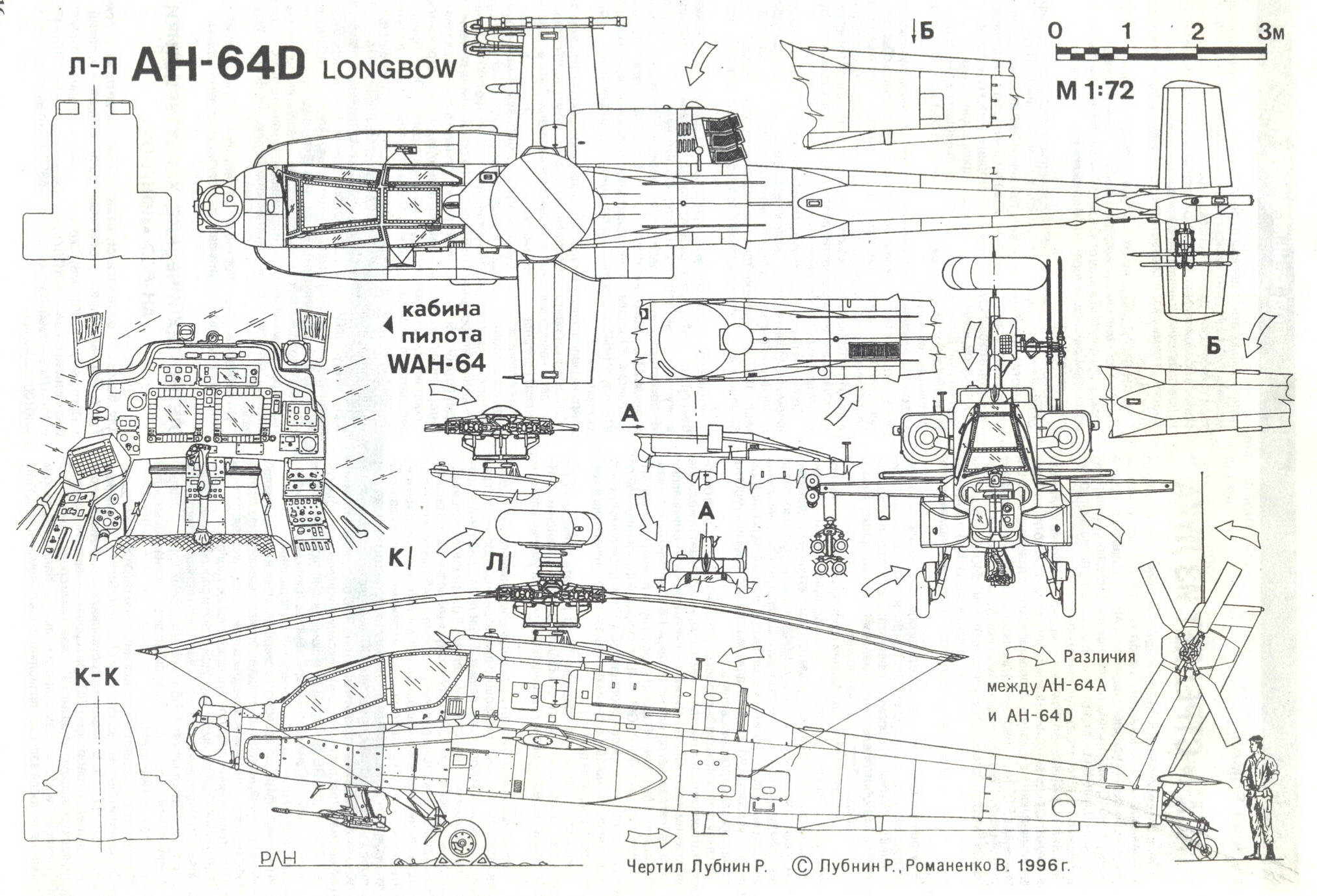 Boeing Ah 64 Apache on cutaway f1 race car