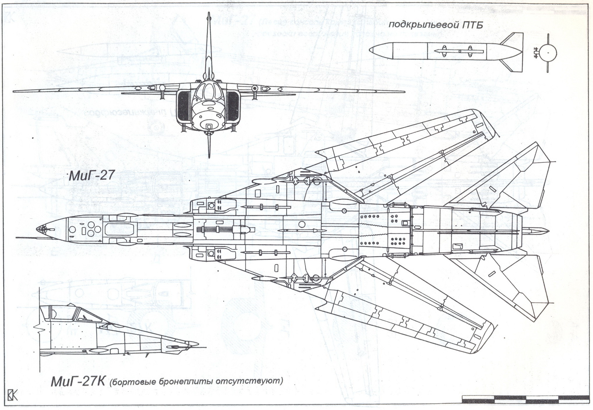 mikoyan mig-27 blueprint