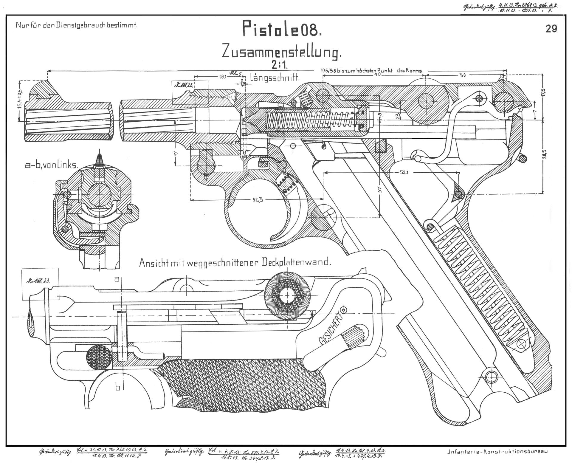 Luger p08 blueprint download free blueprint for 3d modeling for Create blueprints online free