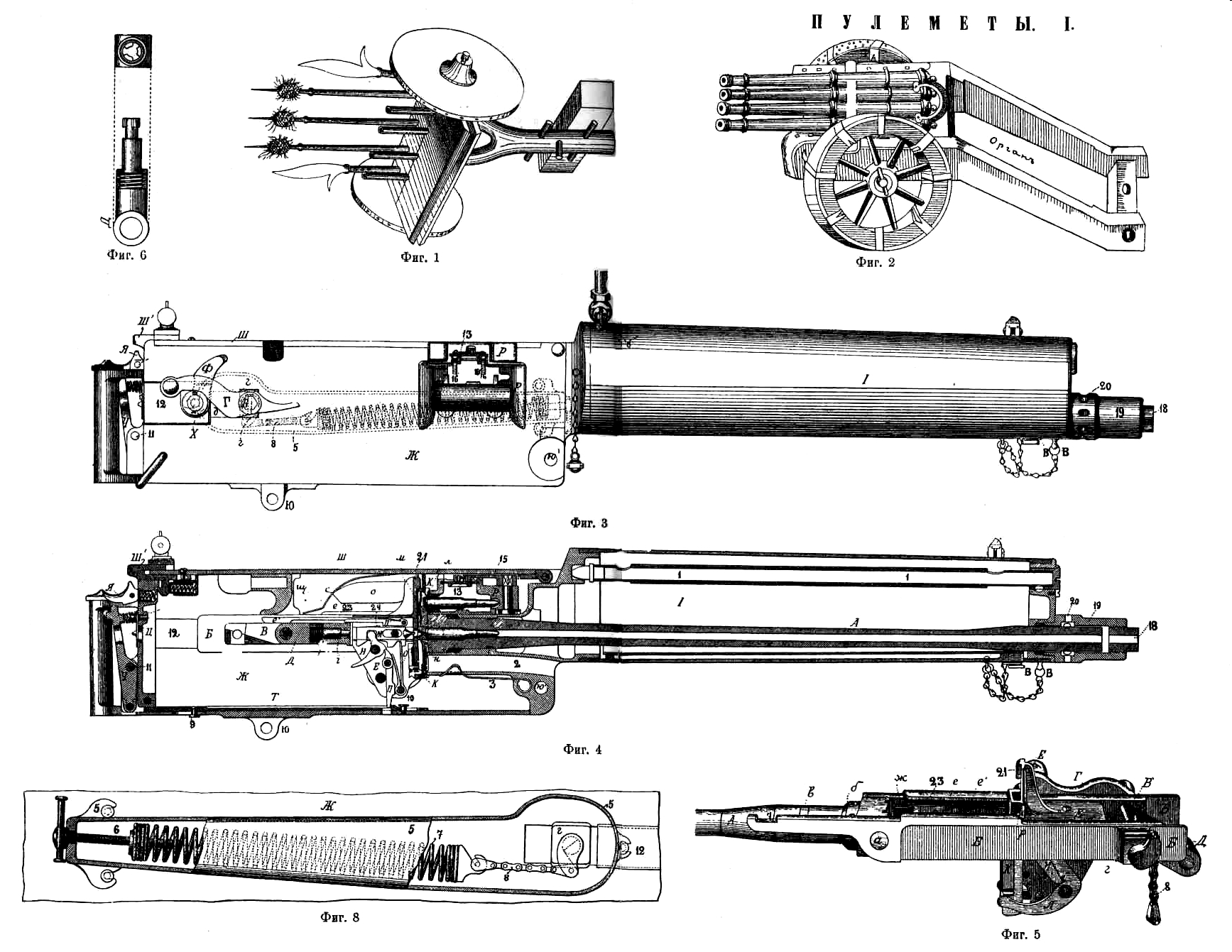 Maxim gun Blueprint - Download free blueprint for 3D modeling