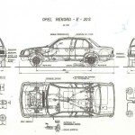 Opel Rekord blueprint