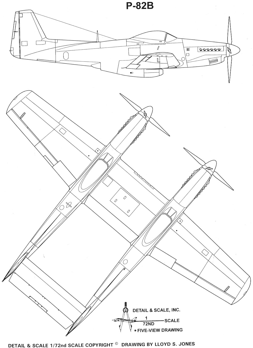 F-82 Twin Mustang blueprint