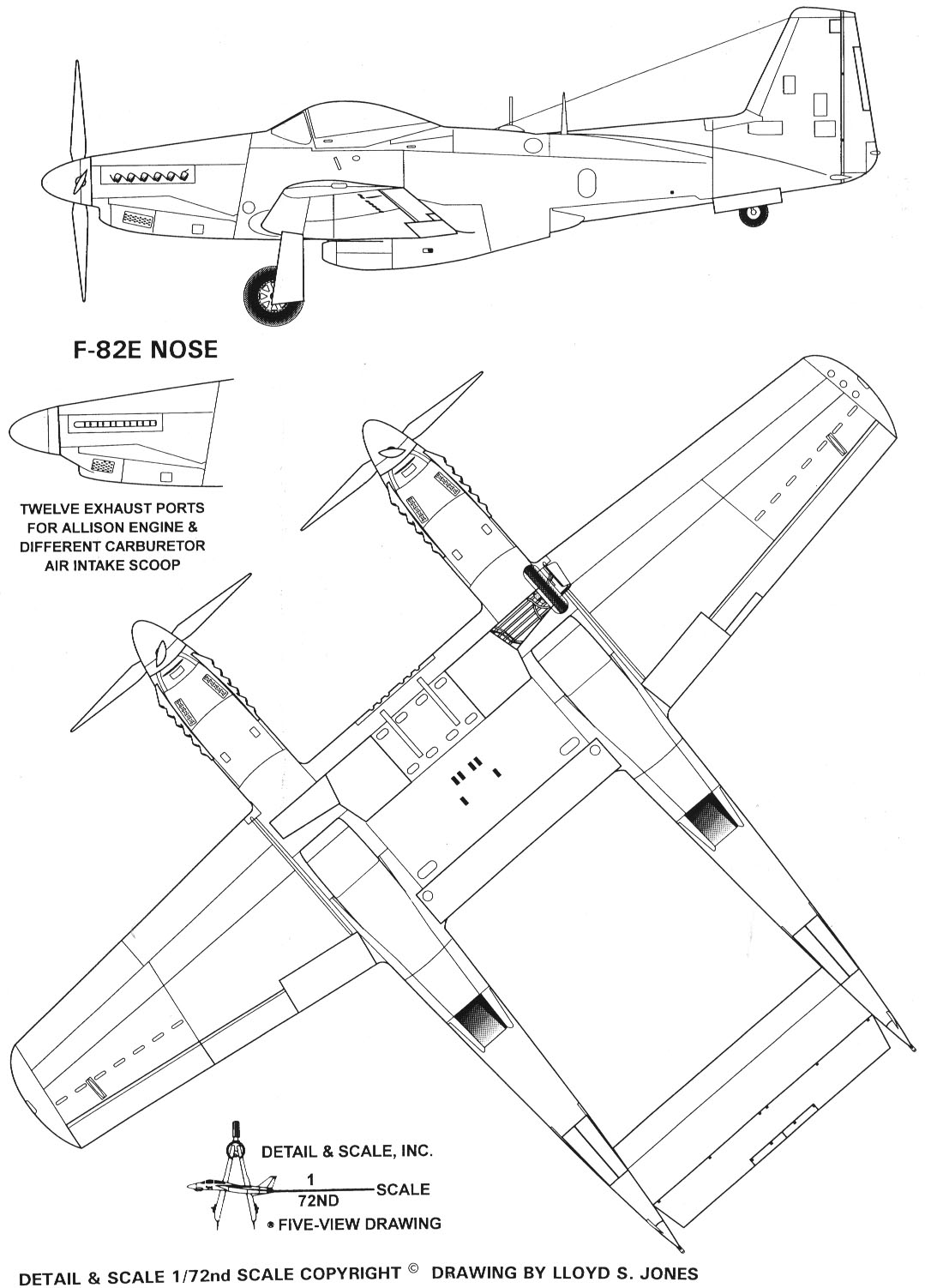 F-82 Twin Mustang blueprint
