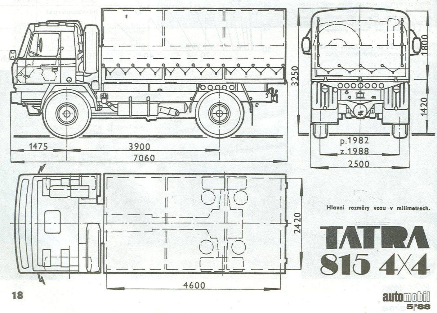 tatra 815 4 u00d74 1986 blueprint