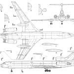 Tu-154m blueprint