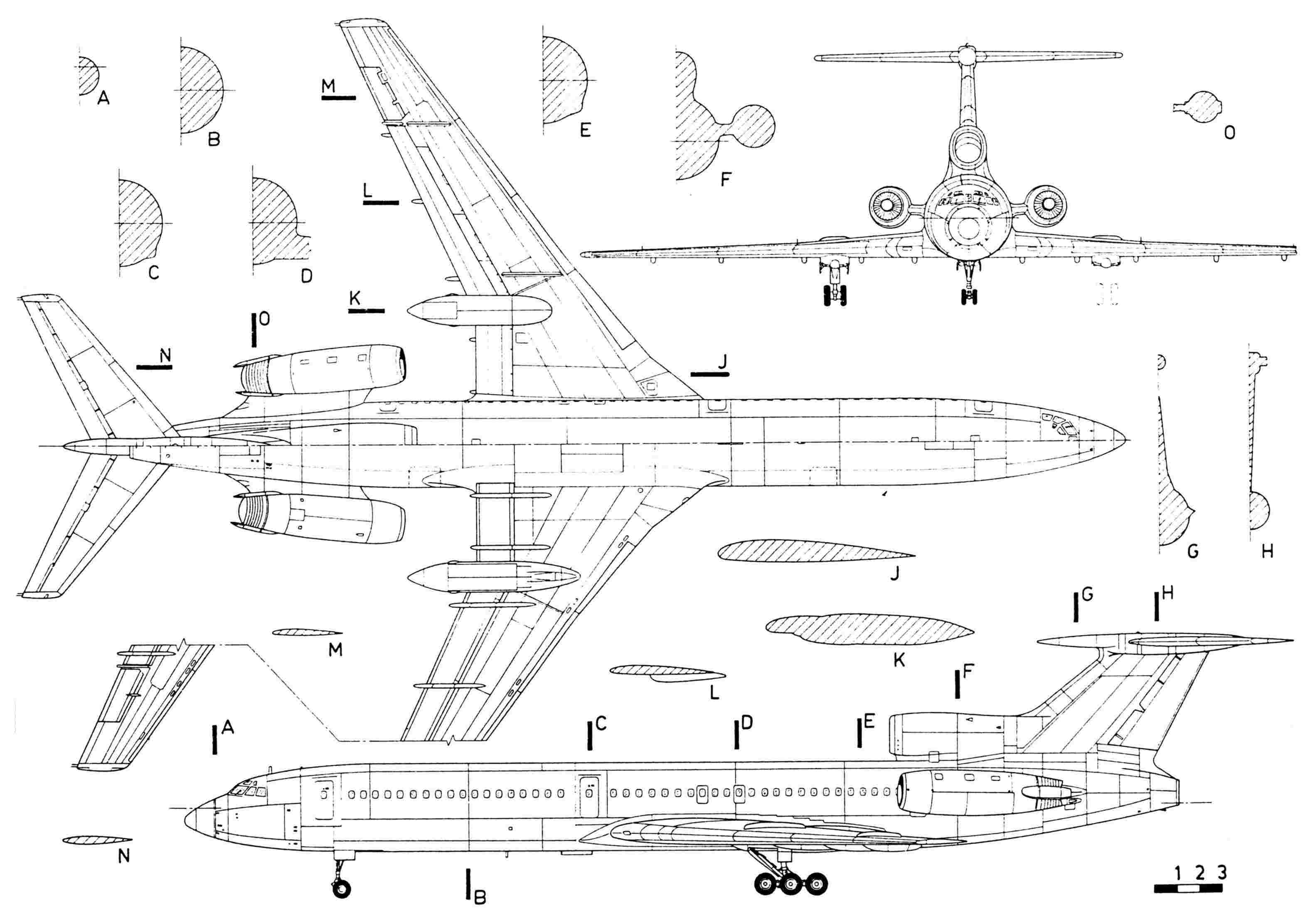 Tupolev Tu 154 Blueprint Download Free Blueprint For 3d