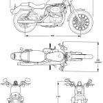 Harley-Davidson XLH 53C blueprint