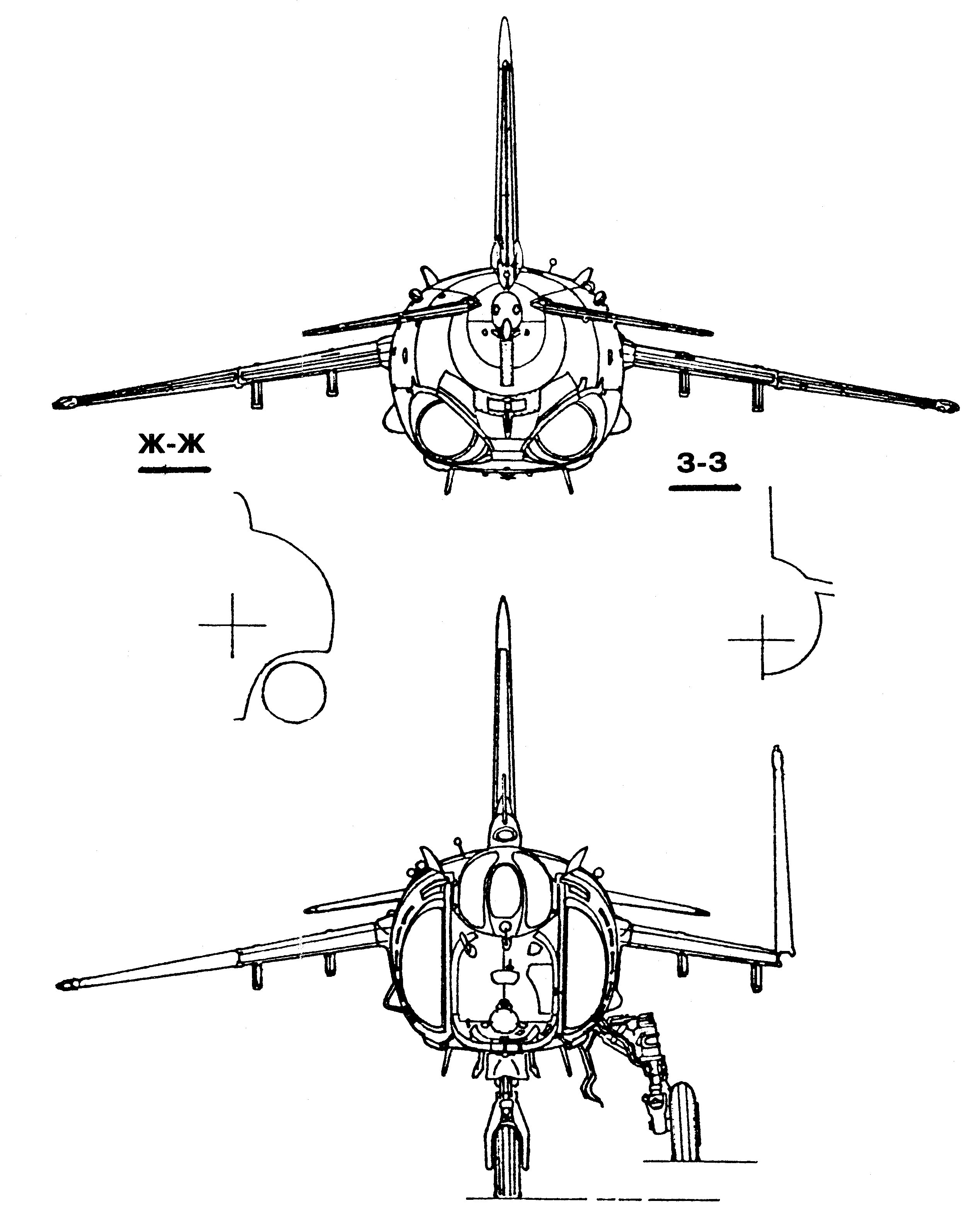 Yak-38 blueprint