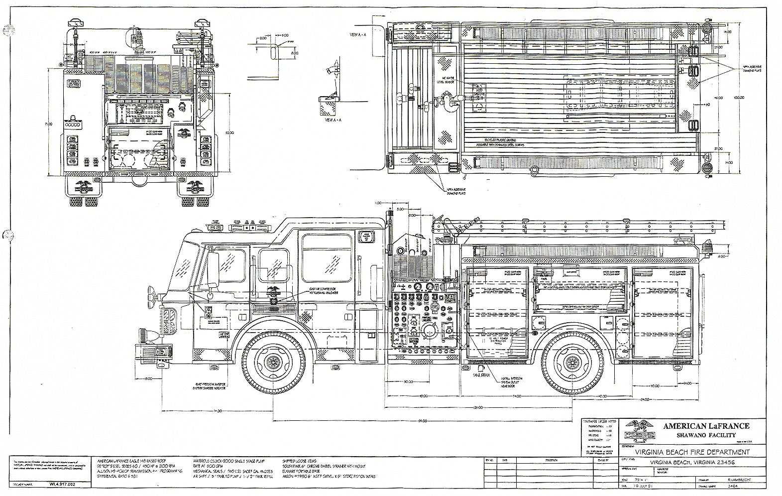 american lafrance eagle pumper blueprint download free blueprint rh drawingdatabase com Fire Truck Pumps Diagram Fire Truck Placement