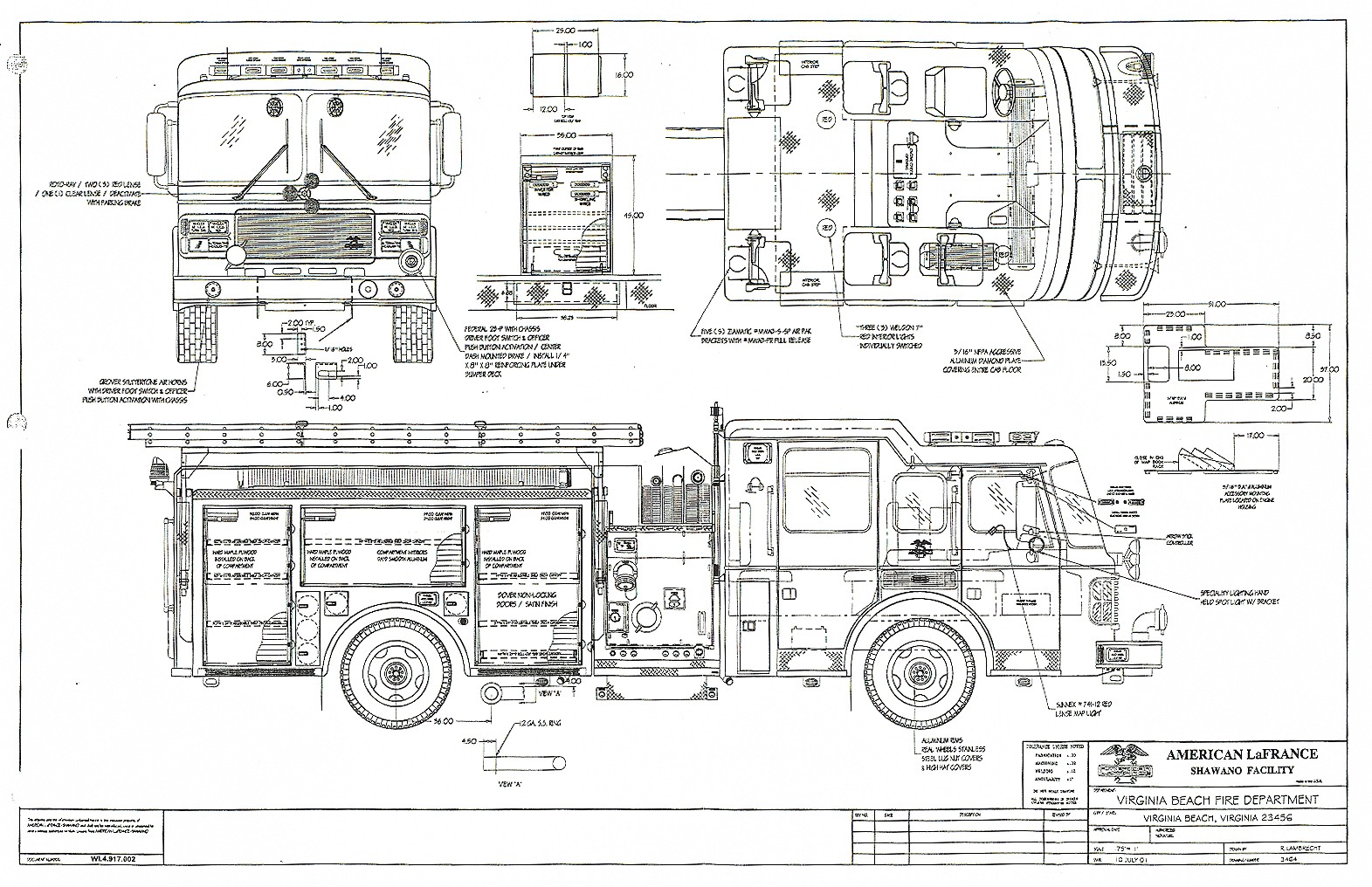 Fire Truck Van Schematic Wire Center Diagram Of Pierce Engine American Lafrance Eagle Pumper Blueprint Download Free Rh Drawingdatabase Com Escape