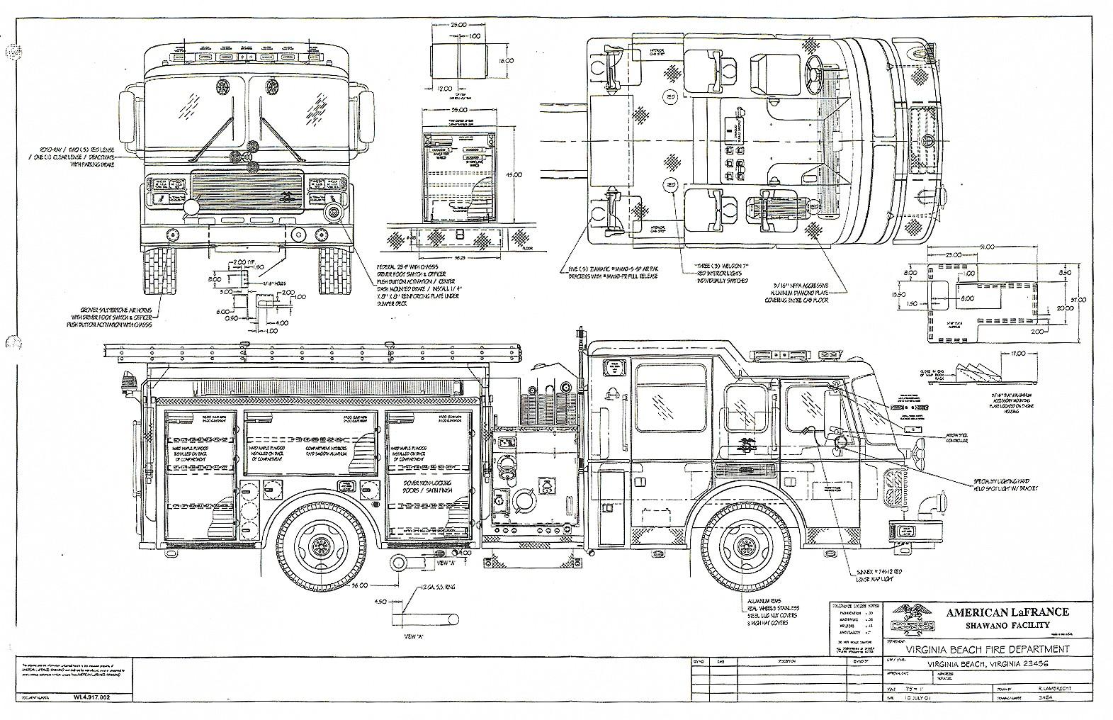 fire truck blueprint