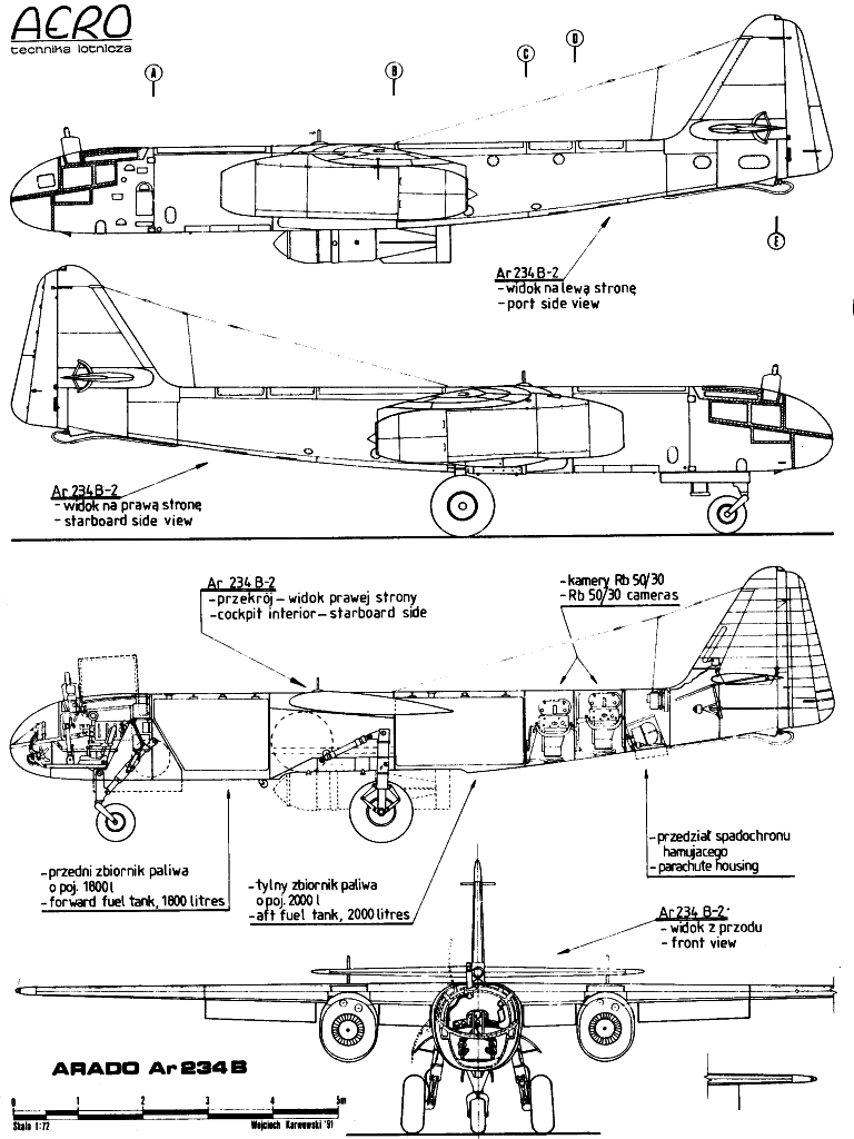 Arado Ar 234 blueprint