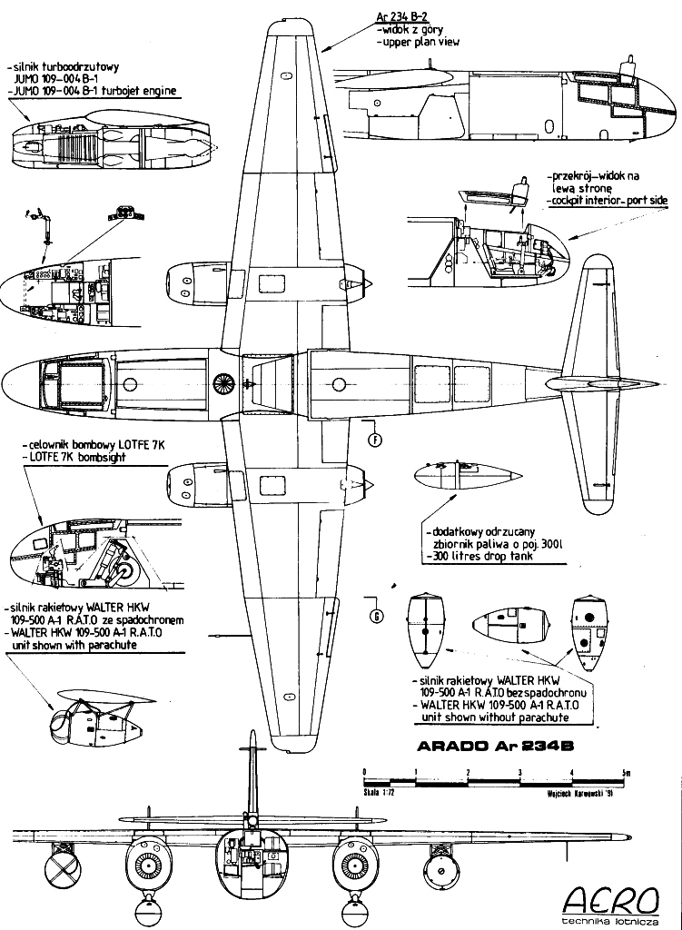 Arado Ar 234 blueprint