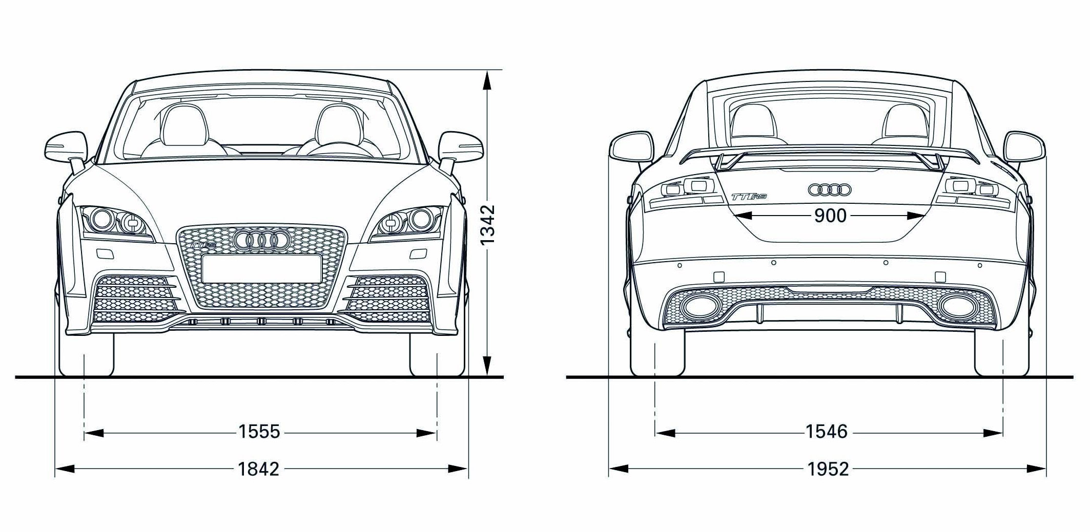 Audi TT RS blueprint