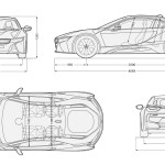 BMW i8 blueprint