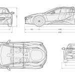 BMW i8 blueprint