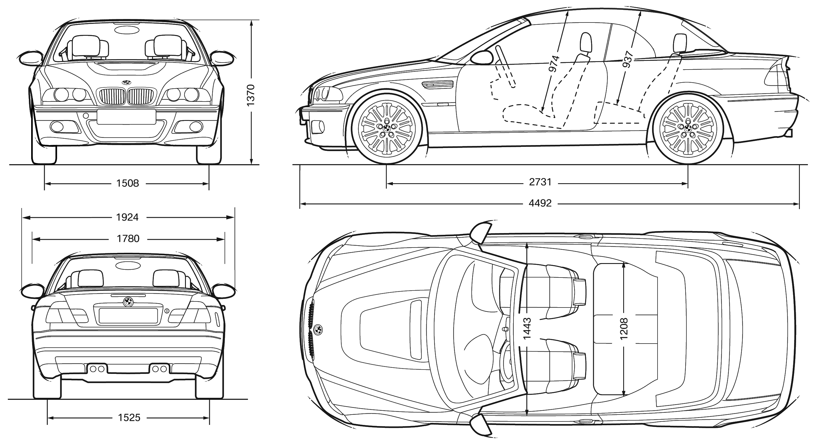 bmw E46 blueprint