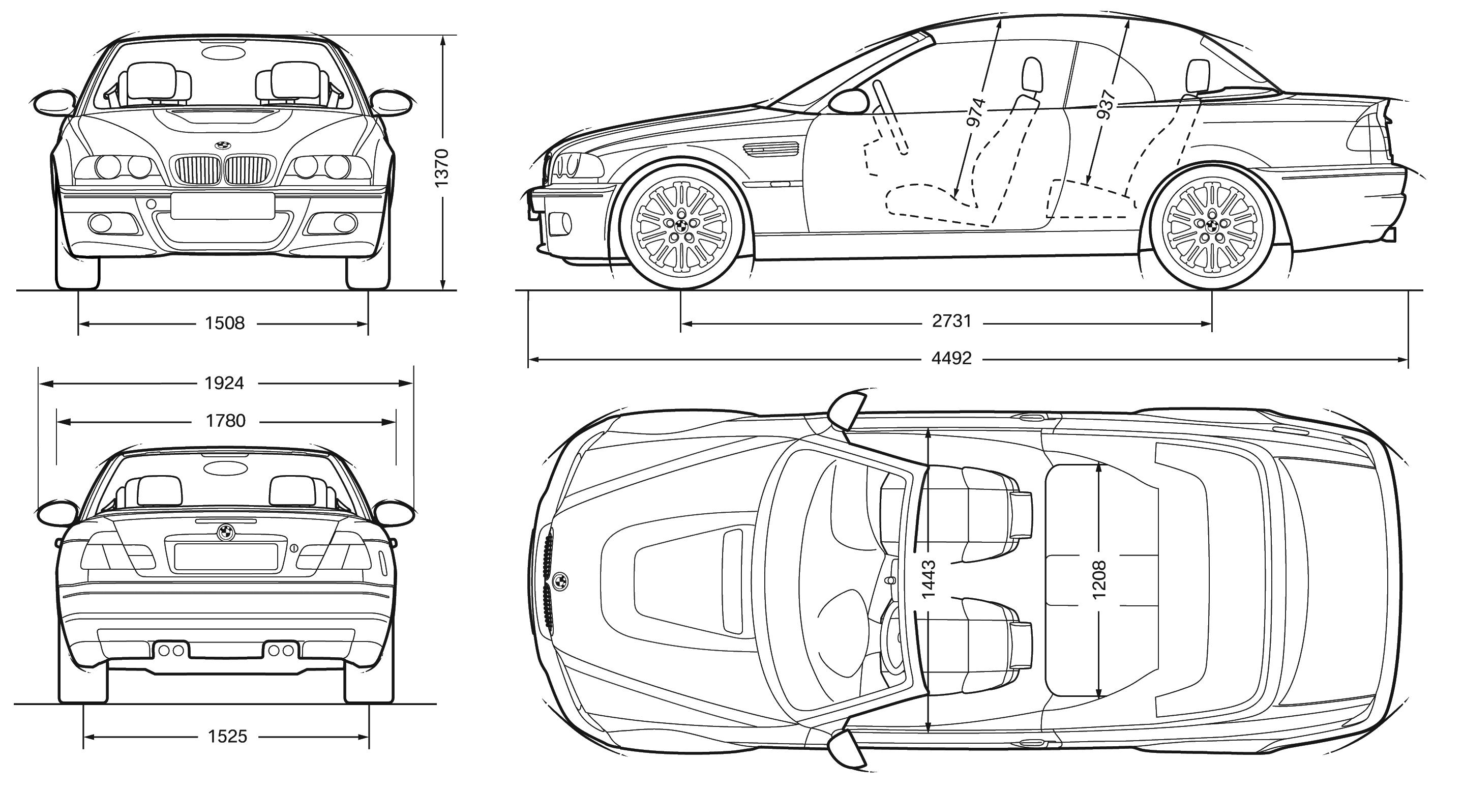 bmw E46 blueprint