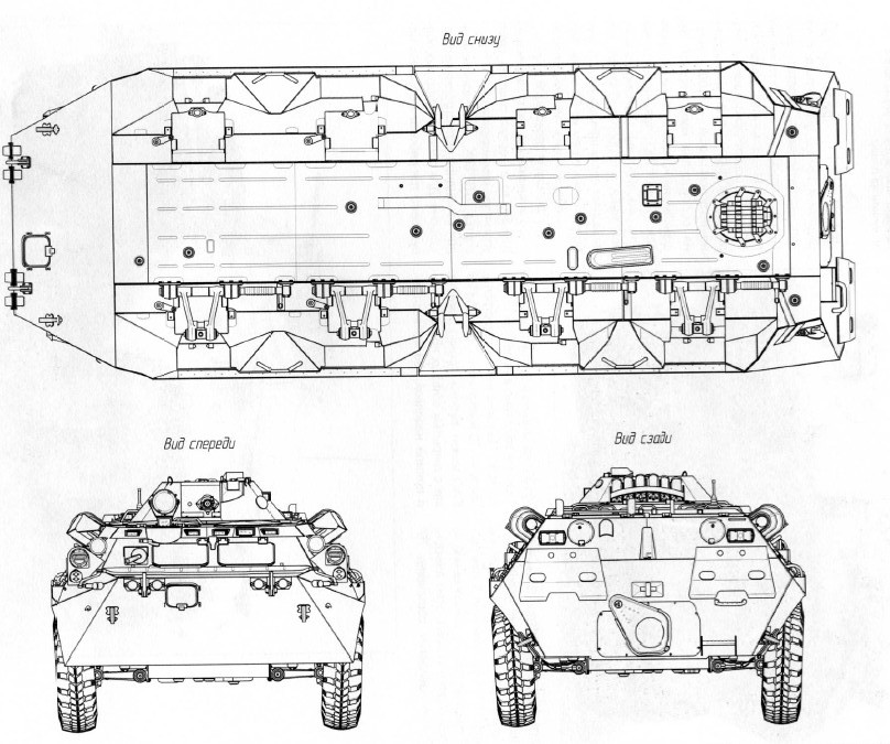BTR-80 blueprint