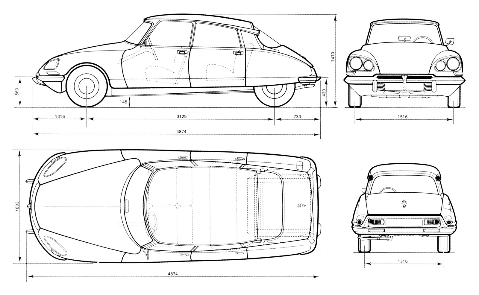 citroen ds blueprint
