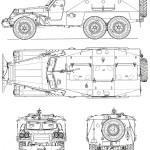 BTR-152 blueprint