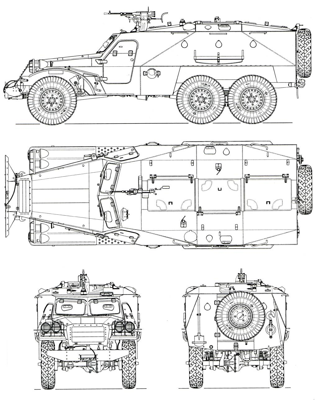 BTR-152 blueprint