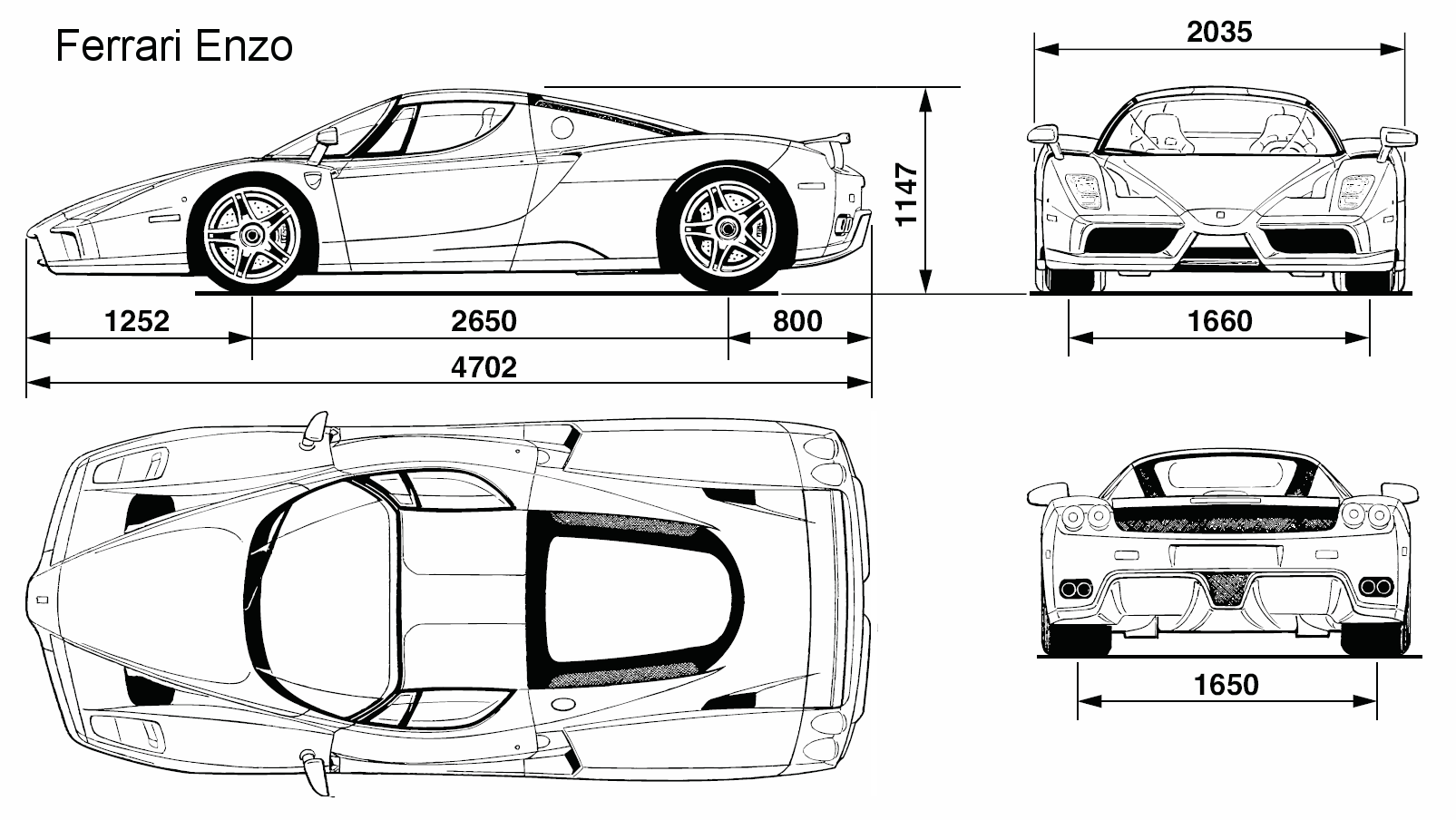 Ferrari enzo blueprint download free blueprint for 3d modeling ferrari enzo blueprint malvernweather