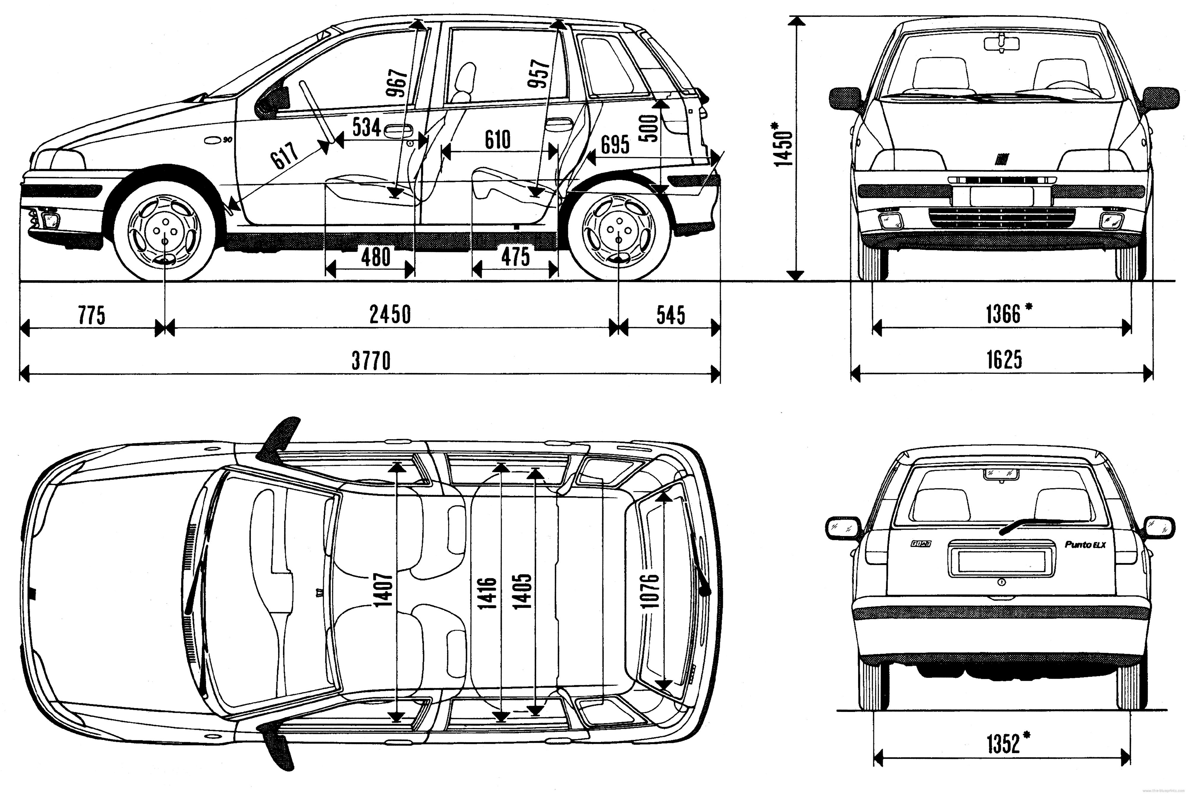 Fiat Punto blueprint