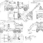 KrAZ Crane blueprint
