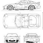 Mazda RX-7 FD blueprint