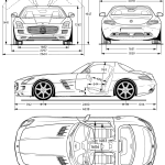 Mercedes-Benz SLS AMG blueprint