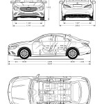 Mercedes-Benz CLA-Class blueprint