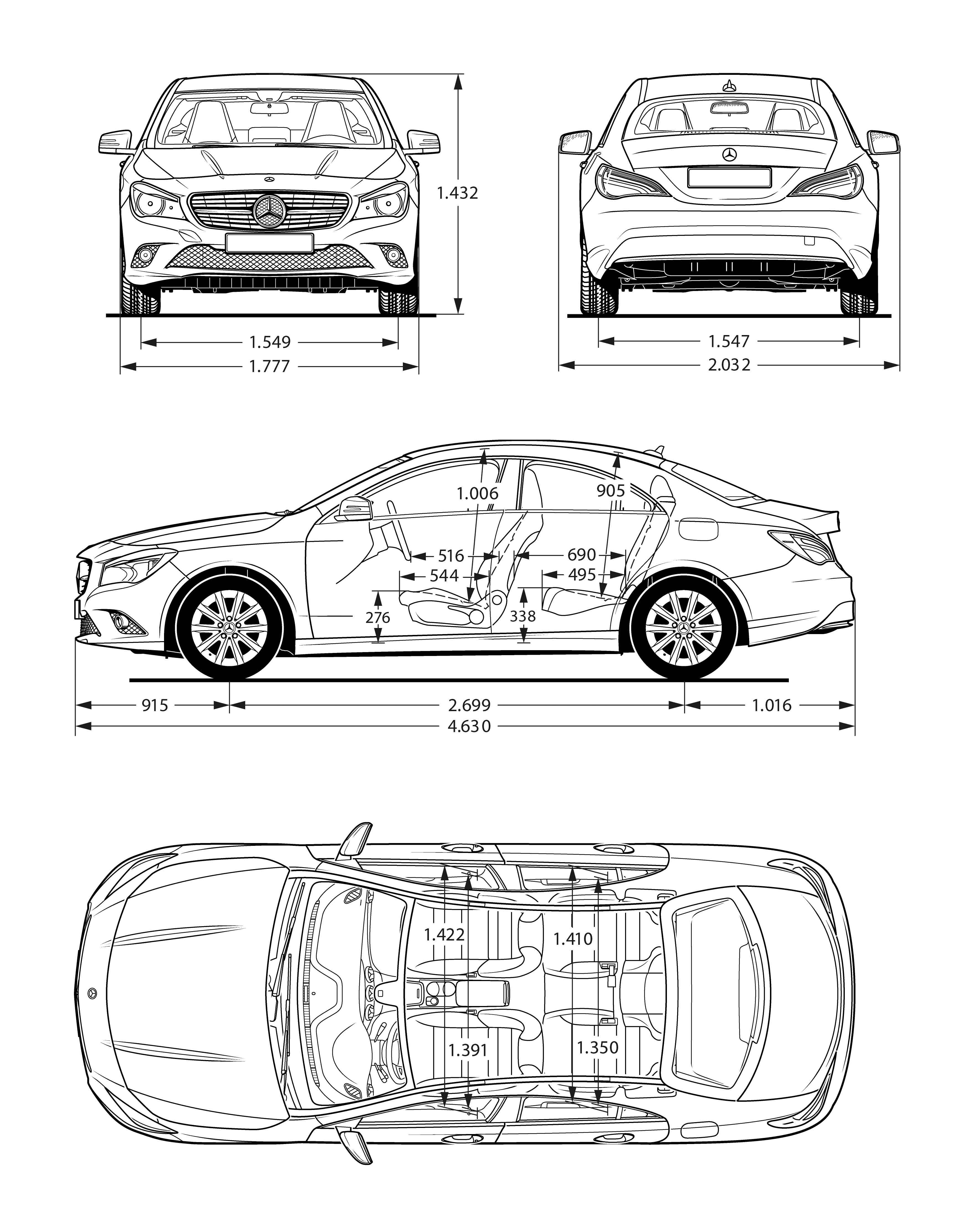 Mercedes-Benz CLA-Class blueprint